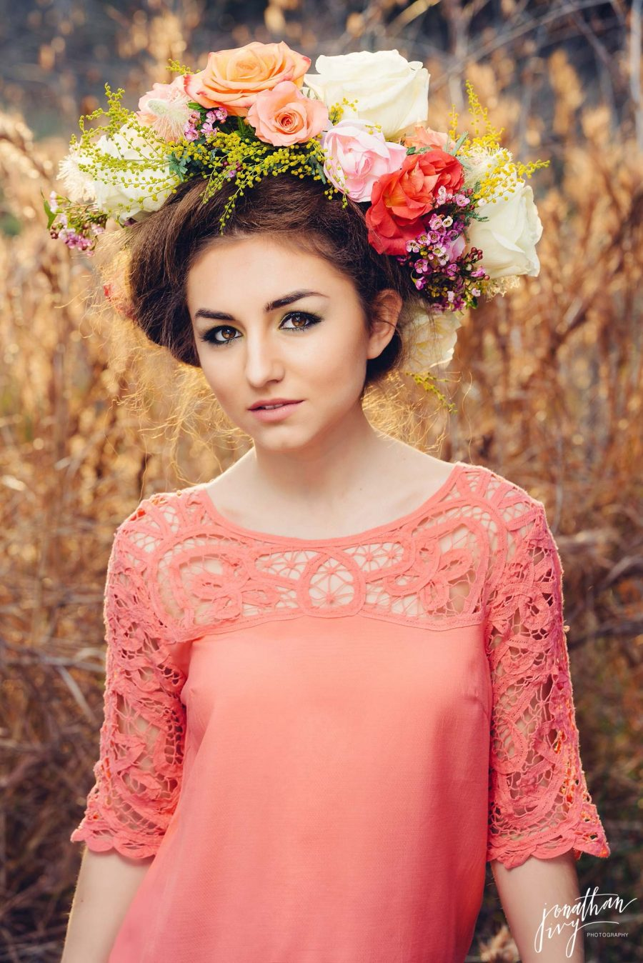 Floral Hair Crowns and Hair Pieces