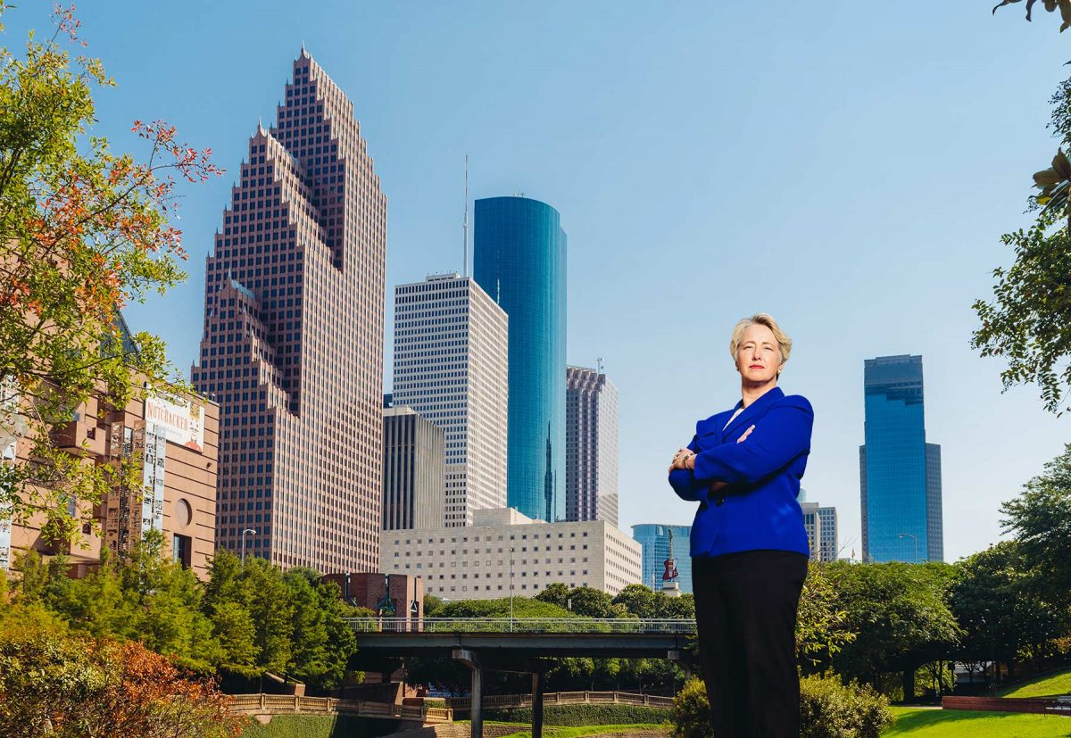 Houston Mayor Parker Skyline