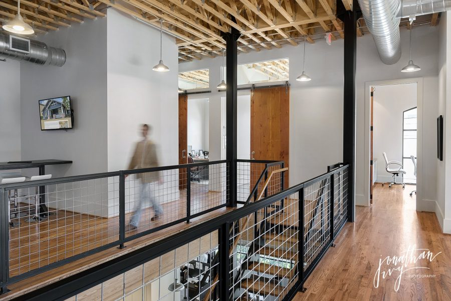 Corporate office stairway