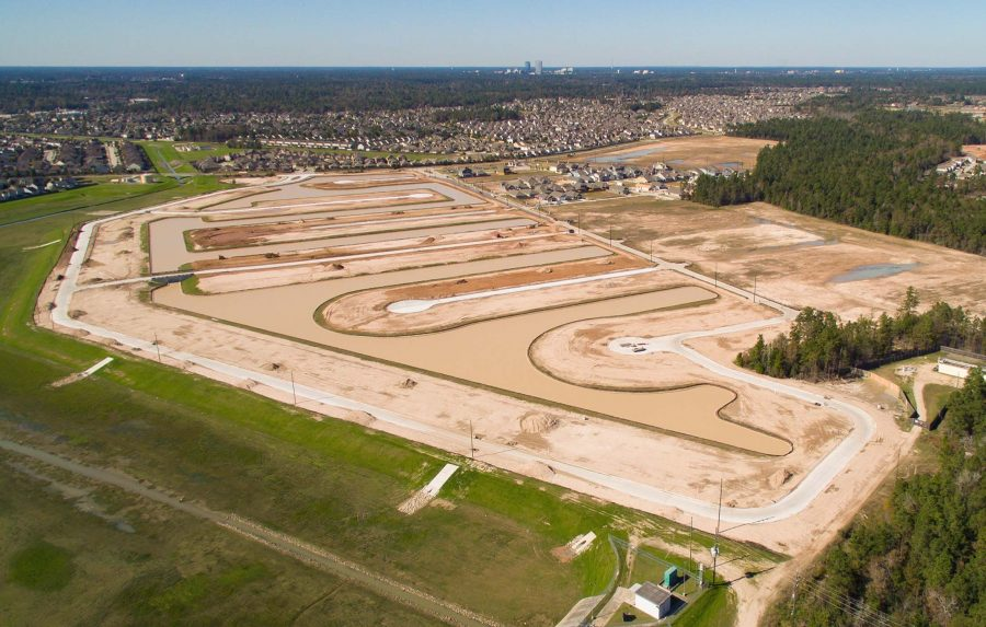 Drone Photography in The Woodlands Construction Developments